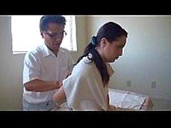 Asian massages white girl