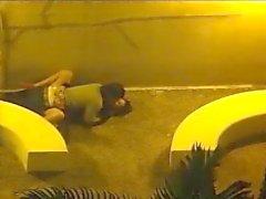 couple fuck outside security camera