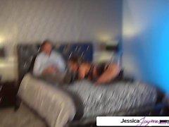 Jessica Jaymes sucking and fucking a big dick, big boobs