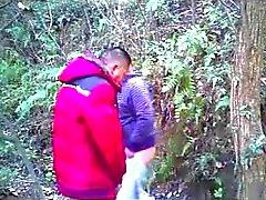 Cinesi in età matura orsacchiotto dell'uomo aspirare il cazzo