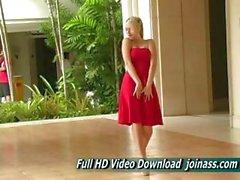 Hechos de Vestidos Rojos a Alison Angel A sexy como un Modelo