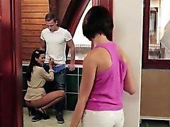 Горячие ИФОМ Шалина Левин и подростка Rubby Бель делиться петух