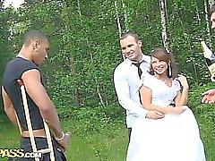 Sexo de grupo a la boda con la PD