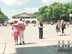 MMVFilms rubia Alemán fucked en público