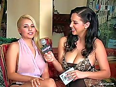 Joven rubia Jelena de Jansen dispone entrevista calor en close up