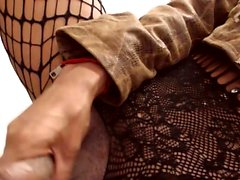 Sweet shemale tranny in lingerie fucked in ass