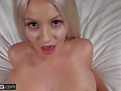 Teen bad girl Kylie Page flashes her big tits in public