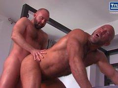 Enormt Hårig muskler pappa Jesse i Jackman knullas