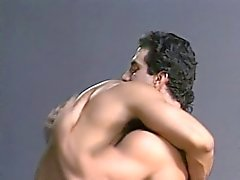 Hairy studs with ripped bodies engage in hot anal action in the garage