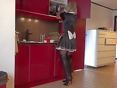 the maid in thigh boots is a sissy