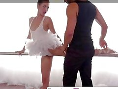 Skinny teen dancer fucked till she squirts