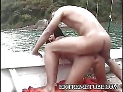 Amazing sex on the yacht