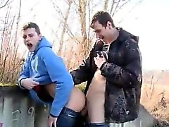 Masturbating in public male gay Anal Sex In Public