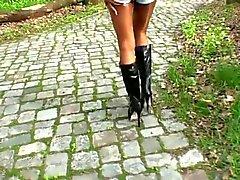 LGH - Duitse Tamia - Outdoor Boots und Glanz Strumpfhose