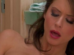 Huge boobed Emily Addison goes solo