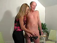 Hot Boss Girl Jerking Old Man - F70