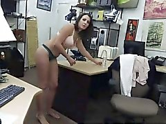 Russian brunette anna first time Customer's Wife Wants The D