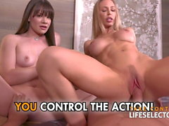 Threesome with Nicole Aniston and Alison Rey