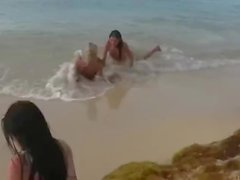 'Blue Angel & Sasha Rose 1 on beach (lesb & IR