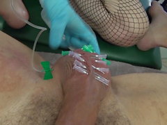 Lady Jane, Saline injections, needles, sounding, cbt, fist