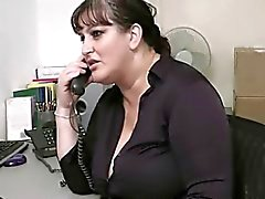 chubby secretary fucks in her office