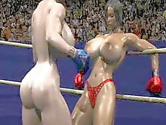 FPZ3D S vs G 3D Toon Fistfight Catfight Big Tits One- Sided