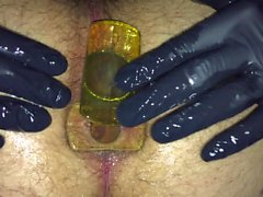 Double Anal Plug Penetration and Push Out