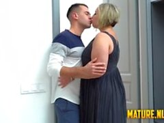 Tattoed guy destroyed blonde mature's pussy