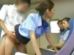 Aziatische Stewardess Banging The Captain