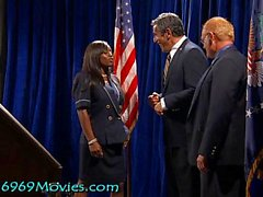 Cumdoleezza Rice White House BJ with Dick and Bush on Spunk'd!