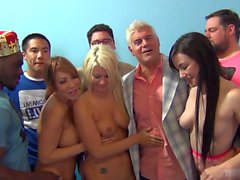 Ava Devine and Laela Pryce are a beautiful blonde and Asian duo, both