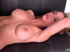 Ravishing babe with perfect tits and ass Emily Addison pleases herself