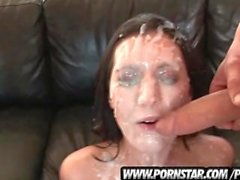 Cum Splattered Brunette Pornstar Dylan Ryder Gets It