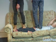 2 masters get their feet worshipped Part 1 (go to my profile for part 2)