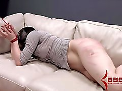 Masochist in extremely rough anal and caning