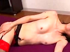 Asa Akira hot asian get her pussy lick by a bald guy