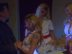 Sluts in uniform Darryl Hanah and Lindsey Meadows have fun