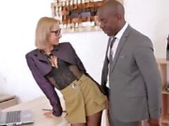 obedient secretary squirts from boss bbc