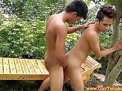 Ethnic twink sex in the great outdoors