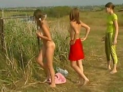 'galitsin news-sveta, katya and valentina-nude relaxing in nature'