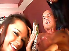 Threesome with Raylene and Bliss Lei