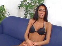 tolly cristall is a very tall, asian whore who has small hooters, a