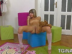 striking blonde russian girl gina craves for lovestick