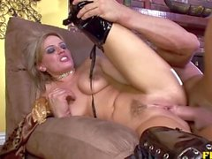 Blonde babe loves a big cock for anal with a surprise ending - FHUTA