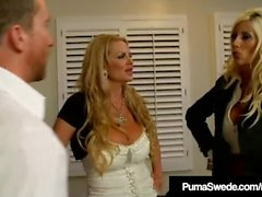 Swedish Star Puma Swede & Kelly Madison Blow Hubby!