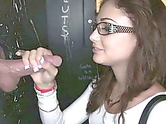 Petite Ariana Maries facial in gloryhole