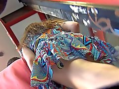 Upskirt Voyeur Walking with Boyfriend