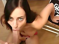 Amateur Shaved Brunette fuck and facial