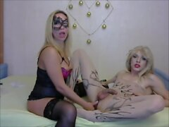 Blond angel sucking a naughty shecock on cam