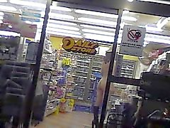 Naked Convenience Store Flash Clerk